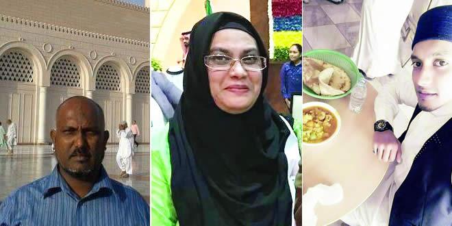 Nazeer Beekawah, Swaleha Dowlet et Mohammad Sameer Beg