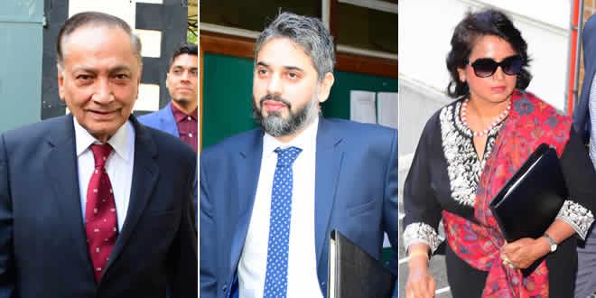Me Yousuf Mohamed, Me Nadeem Hyderkhan et Ameenah Gurib-Fakim.