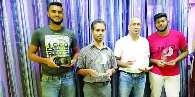 Saahir Hossenbaccus et Ridhwan Ali Raja