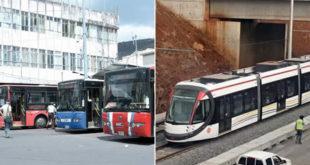 Metro Express et autobus