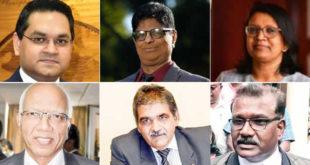 Harvesh Kumar Seegolam, Mardayah Kona Yerukunondu, Hemlata Sadhna-Gopal, Keshoe Parsad Matadeen, Phalraj Servansing et Viranand (Viren) Ramchurn