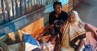 Mère et fils trouvent parfois refuge au 'ti bazar' de Plaine-Verte.